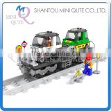 Mini Qute DIY intellect train rail track Transport vehicle action figure plastic building block model educational toy NO.25412