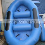 Water entertainment blue inflatable river raft boat,drifting boat