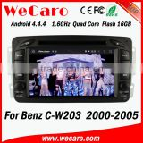 Wecaro WC-MB7507 Android 4.4.4 gps HD 2 din for mercedes benz c-class w203 car dvd player 2000 - 2005 Wifi&3G