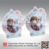 Custom free shape food grade plastic tea bag, Customized clear special tea bag with hang hole