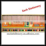 60PCS/SET Natural Wooden Dipped Top Coloured Pencil Set Of Top Dip In Wooden Box With Color Paper