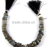 1 Strand Natural Blue Flash Fire Labradorite Faceted Rondelle 9-11mm Drilled Beads,Beautiful Jewelry,Bracelet Making
