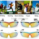 Hot Sale Polarized Sports Sunglasses with 5 Interchangeable Lenses for Men Women Cycling Running Glasses