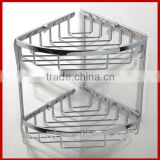2014 new design high quality bathroom shower shelf shower rack 2 tier glass shelve shampoo holder