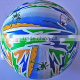 standard size rubber beach ball volleyball