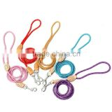 Hot Sale 120cm Pet Dog Nylon Strap Strong Rope Slip Training Traction Leash Walking Lead Collar New Arrvial