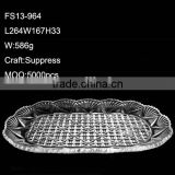 Glass Leaf Shaped Shallow Bowl Cheap Price by China Factory