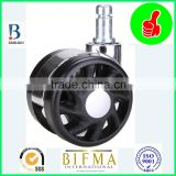 BL swivel electroplated 2.5 inch nylon furniture or medical caster wheels with steel grip ring