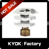KYOK Amazing crystal glass finials for curtain rods,eyelet ring curtain accessories,classic curtain finials