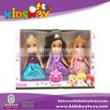 Christmas Gift 9 inch plastic toys doll princess doll with toy crown and IC