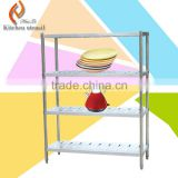Four ties height movable 180x60x180cm stainless steel kitchen storage shelf or rack for food vegetable dish