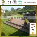 2015 wood and plastic Wholesale seaside waterproof interlocking best composite deck materials