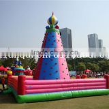 giant inflatable rock climbing wall for commercial use