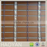 wholesale clear pvc window folding blinds with natural fabric