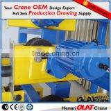 3D Design Drawing Customizable Alibaba hoist trolley hoist crane monorail trolley wheel