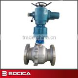 Two Pieces Floating Ball Valve with Electronic Actuator