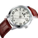 skone leather watch elegant stamped matt dial music notes markers watch