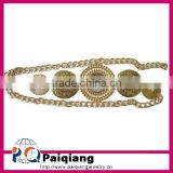 Hot selling metal chain belt with five metallic discs