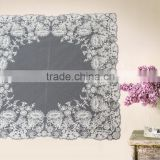 white designe embroidery lace handkerchief for decoration