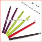 Fashion Silicone Chopsticks With Rest For Promotion Gift