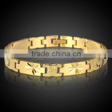Flashing Charm Hand Chain Wholesale Jewelry 18K Gold Plated Good Quality Brass Bracelet Men
