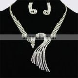 Clear Rhinestone Lot Magnetic Full Necklaces Jewelry Set vogue jewellery wedding necklace