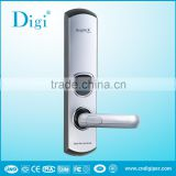 Hot selling (6600-93 ) Golden Left handle hotel Card lock with rf card and Mechanical key