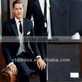 2014 spring coming style !!! Two buttons dark blue peak lapel cheap mens suits whole sale