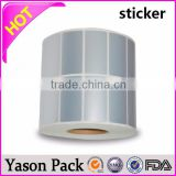 pet silver roll self adhesive blank waterproof bond paper sticker