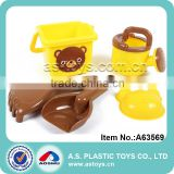 Hot plastic newest beach toys square beach pail and mini watering can