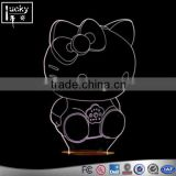 Custom acrylic hello kitty shape 7 colors changing desk table lamp illusion 3d led night light