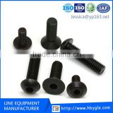 Grade 8.8/10.9/12.9 DIN7991flange socket countersunk cap screw /Zinc Pan Hex Socket Head Bolt/Non Standard Machine Screws