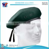 Custom french beret leather band beret hat cheap military beret