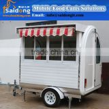 Best selling Mobile food truck Stainless steel mobile kitchen cart-ice cream trailer for sale