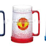 double wall freezer mug with gel freezer beer mug