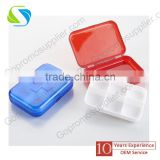 Multifunctional waterproof week first aid kit pill box aid kit medicine case 6-cells cross pill kit