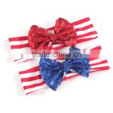 Wholesale handmade baby headband kids rabbit ear hair bands elastic headbands for babies 2016