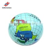 No. 1 yiwu agent Eco-friendly promotion printed PVC globe inflatable beach ball toy ball