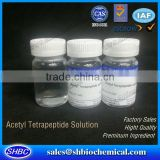 Cosmetic Argireline solution, Acetyl Hexapeptide-8 solution for eye serum, face serum, anti-wrinkle