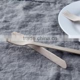 Cheap Food- grade Biodegradable Birch Wood Cutlery Disposable wood spoon knife and fork