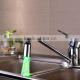 Temperature Automatic Control LED Copper Bubble Color Changing LED Faucet Light Spout, Kitchen Basin LED Faucet For Wholesale