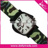 fashion custom geneva silicone colorful camouflage watch