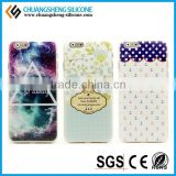 Ultra Slim Custom Colored Drawing Silicone Phone Cover for iphone 6
