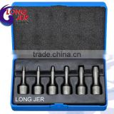 2mm to 10 mm Chrome Molybdenum 6pc Spiral Flute Design Impacts Screw Extractor Kit for Repaire Tools
