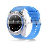 cheap round dial Smart bracelet custom silicone wristband pedometer hear rate monitor V8 smart watch