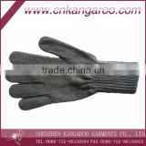 Direct factory provided Nature wool/cotton Knit Glove;army five fingers Glove; workwear glove