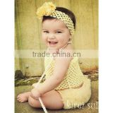 Baby Girls Yellow Crochet Tube Top 0-12M