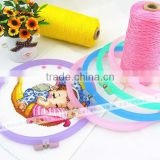 2015 colorful 21 cm 15 cm craft and clothing accessories Plastic embroidery Hoop