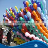 Hot sale Screw Twisted Shaped Latex Balloon