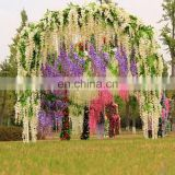 "Artificial Silk Wisteria Home Garden Hanging Flowers Plants 64"" Wisteria Wedding Vine Decor Wedding Flower Garland"